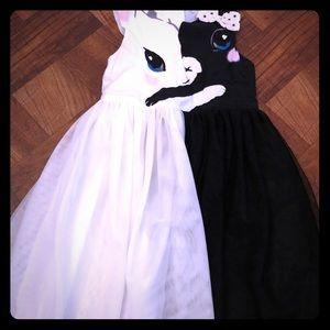 Double colored kitten dress
